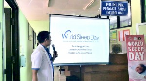 Sosialisasi World Sleep Day di Poli RSSA